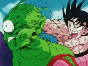 Goku vs. Piccolo at the worlds martial arts tournament